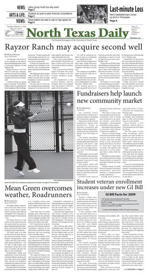North Texas Daily (Denton, Tex.), Vol. 95, No. 9, Ed. 1 Tuesday, February 2, 2010