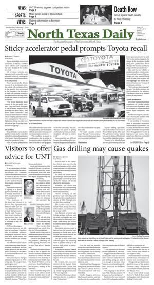 North Texas Daily (Denton, Tex.), Vol. 95, No. 10, Ed. 1 Wednesday, February 3, 2010