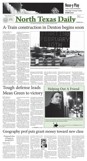 North Texas Daily (Denton, Tex.), Vol. 95, No. 12, Ed. 1 Friday, February 5, 2010