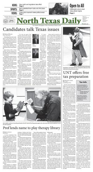 North Texas Daily (Denton, Tex.), Vol. 95, No. 13, Ed. 1 Tuesday, February 9, 2010