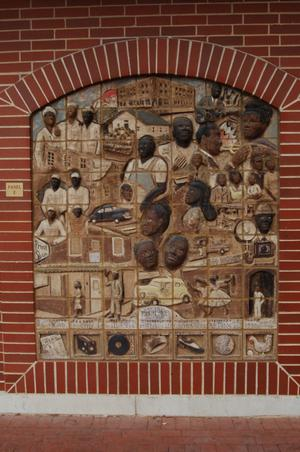 Primary view of object titled 'Two-Dimensional Tiled African Mural Panel E'.