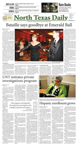 North Texas Daily (Denton, Tex.), Vol. 95, No. 25, Ed. 1 Tuesday, March 2, 2010