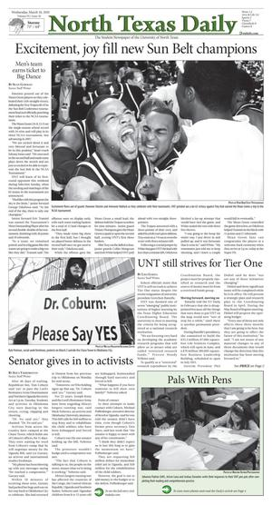 North Texas Daily (Denton, Tex.), Vol. 95, No. 30, Ed. 1 Wednesday, March 10, 2010