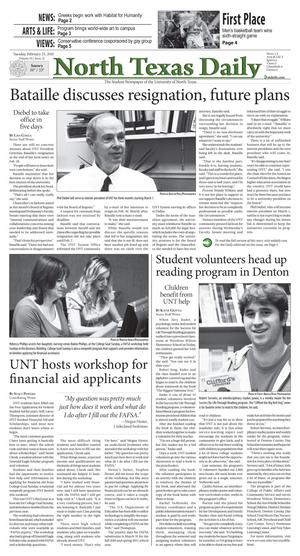 North Texas Daily (Denton, Tex.), Vol. 95, No. 21, Ed. 1 Tuesday, February 23, 2010