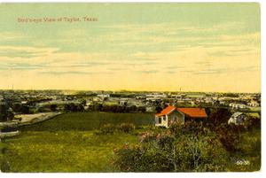 Primary view of object titled 'Bird's-eye View of Taylor, Texas'.