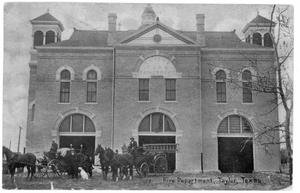 Primary view of object titled 'Fire Department, Taylor, Texas'.