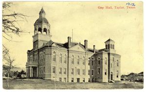 Primary view of object titled 'City Hall, Taylor, Texas'.