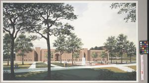 Primary view of object titled '[Architectural Illustration of Willis Library]'.