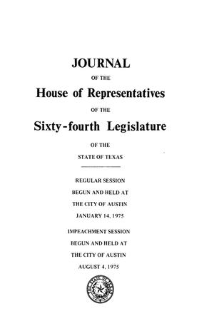 Primary view of object titled 'Journal of the House of Representatives of the Sixty-Fourth Legislature of the State of Texas, Volume 3'.