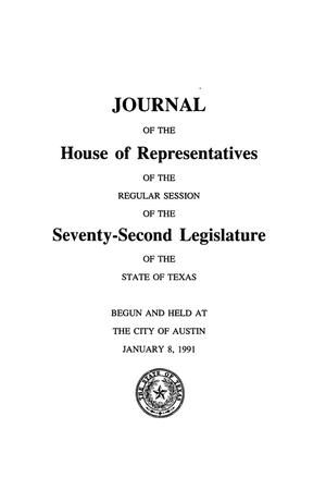 Primary view of object titled 'Journal of the House of Representatives of the Regular Session of the Seventy-Second Legislature of the State of Texas, Volume 4'.