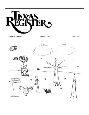 Primary view of object titled 'Texas Register, Volume 36, Number 1, Pages 1-112, January 7, 2011'.
