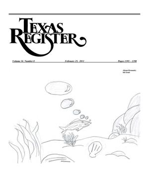 Primary view of object titled 'Texas Register, Volume 36, Number 8, Pages 1195-1398, February 25, 2011'.
