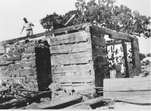 Primary view of object titled 'Home in Hurst Being Torn Down'.