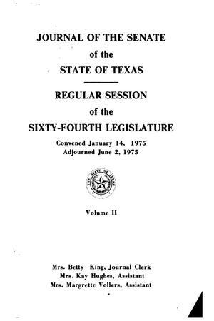 Primary view of object titled 'Journal of the Senate of the State of Texas, Regular Session of the Sixty-Fourth Legislature, Volume 2'.