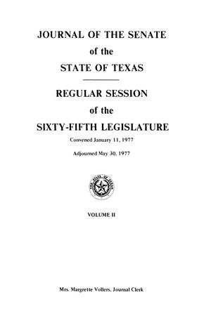 Primary view of object titled 'Journal of the Senate of the State of Texas, Regular Session of the Sixty-Fifth Legislature, Volume 2'.