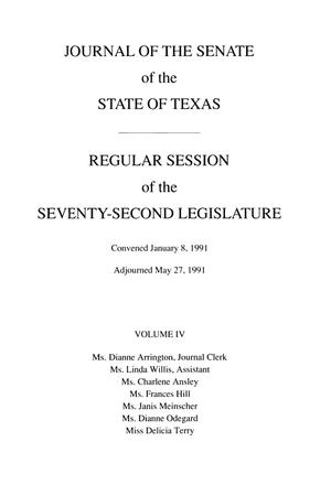 Primary view of object titled 'Journal of the Senate of the State of Texas, Regular Session of the Seventy-Second Legislature, Volume 4'.