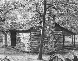 Primary view of object titled 'Isaac Parker's Log Cabin'.
