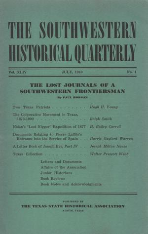 Primary view of object titled 'The Southwestern Historical Quarterly, Volume 44, July 1940 - April, 1941'.