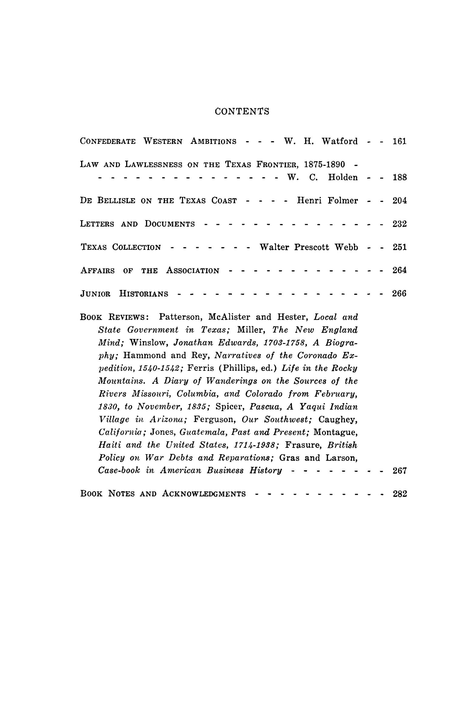 The Southwestern Historical Quarterly, Volume 44, July 1940 - April, 1941                                                                                                      None