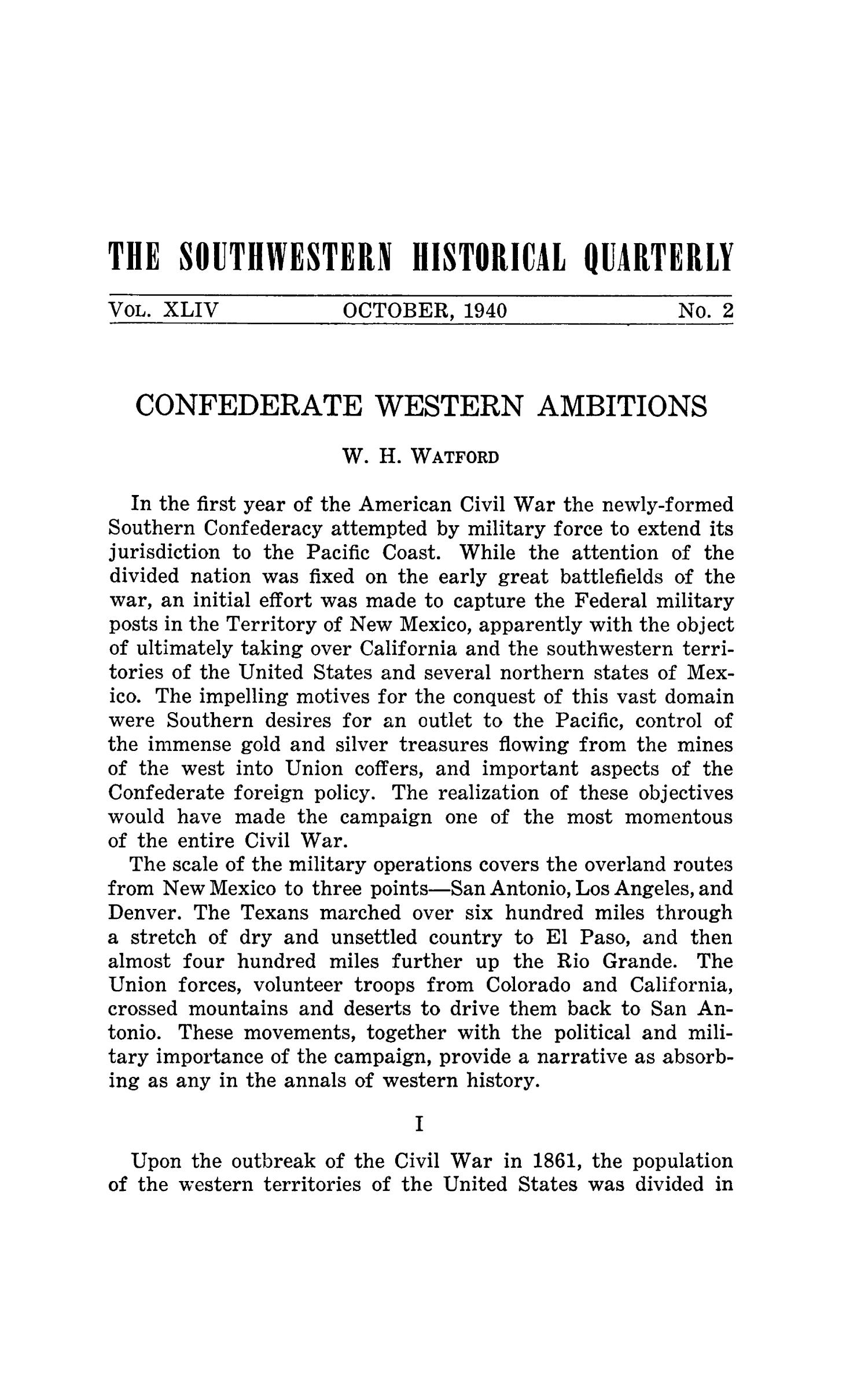 The Southwestern Historical Quarterly, Volume 44, July 1940 - April, 1941                                                                                                      161