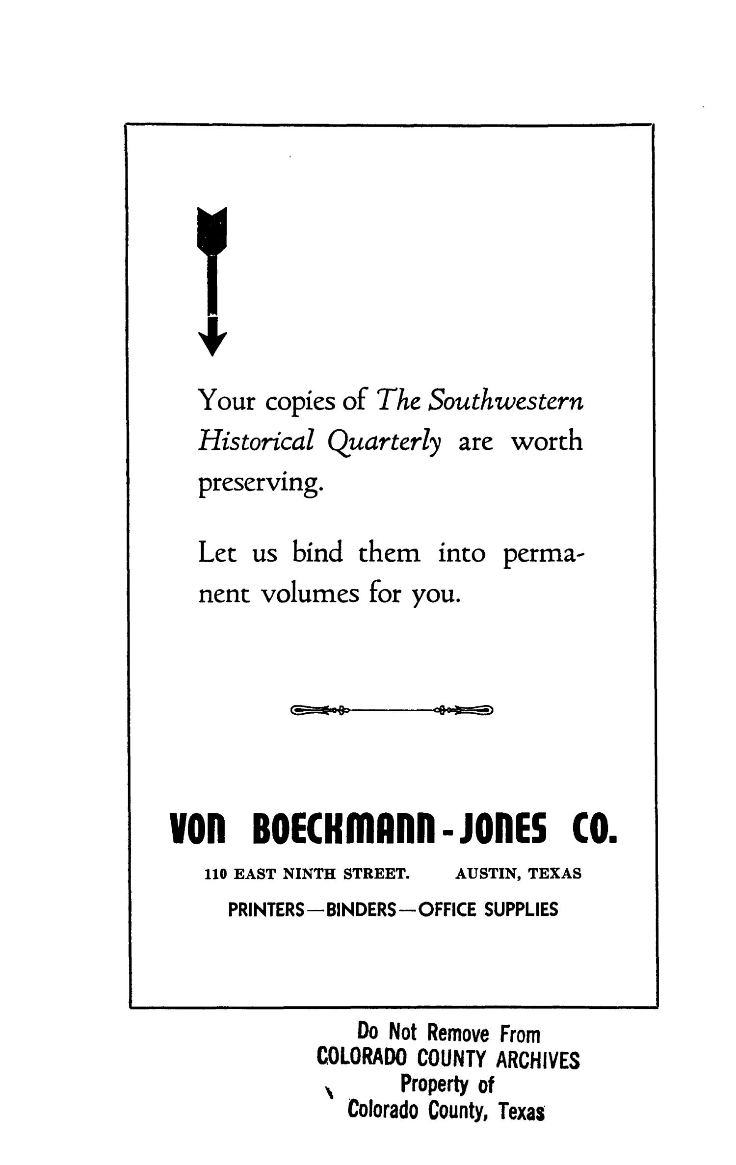 The Southwestern Historical Quarterly, Volume 45, July 1941 - April, 1942                                                                                                      None