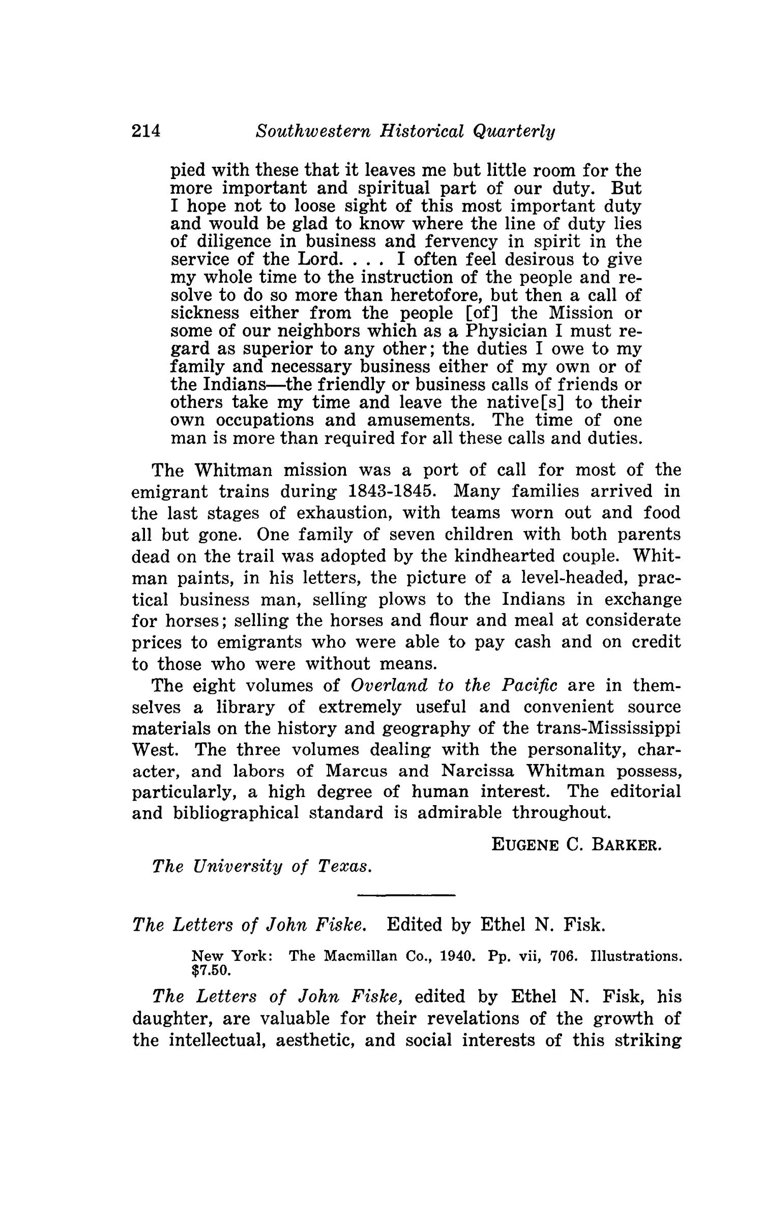 The Southwestern Historical Quarterly, Volume 45, July 1941 - April, 1942                                                                                                      214