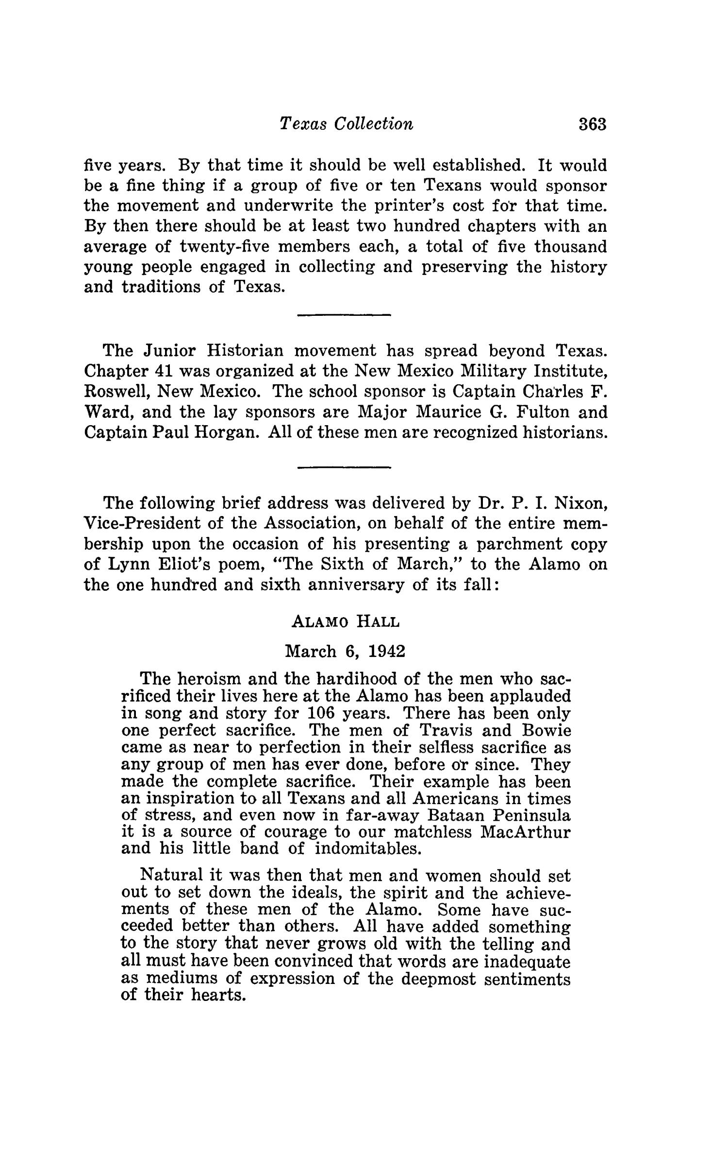 The Southwestern Historical Quarterly, Volume 45, July 1941 - April, 1942                                                                                                      363
