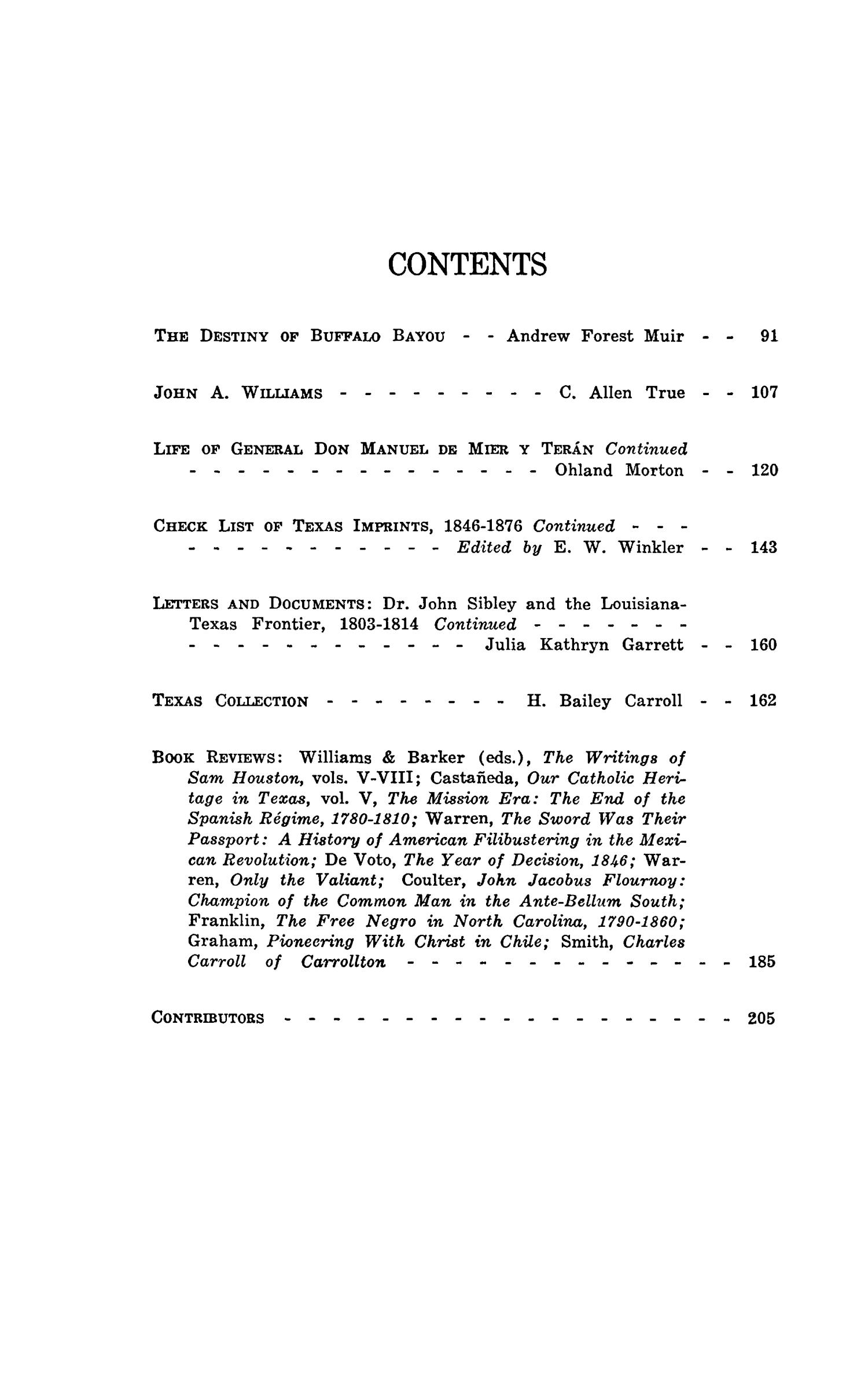 The Southwestern Historical Quarterly, Volume 47, July 1943 - April, 1944                                                                                                      None