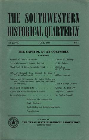 Primary view of object titled 'The Southwestern Historical Quarterly, Volume 48, July 1944 - April, 1945'.