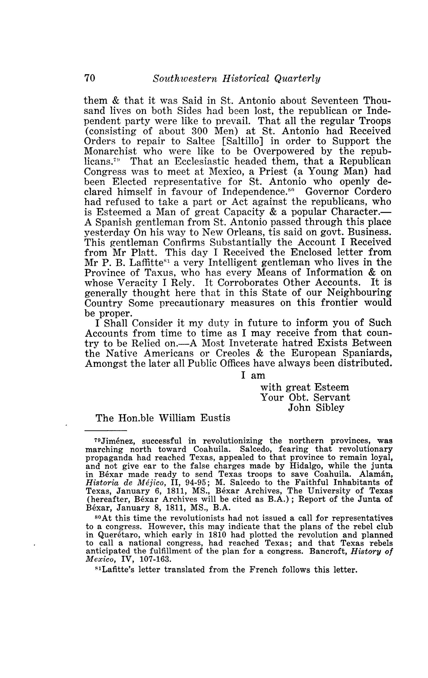 The Southwestern Historical Quarterly, Volume 48, July 1944 - April, 1945                                                                                                      70