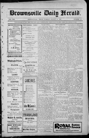 Primary view of object titled 'Brownsville Daily Herald (Brownsville, Tex.), Vol. TEN, No. 35, Ed. 1, Tuesday, August 13, 1901'.