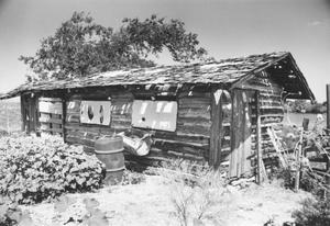 Primary view of object titled 'Log Cabin on Haltom Estate'.
