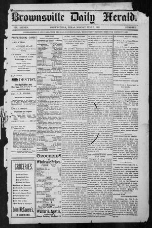 Primary view of object titled 'Brownsville Daily Herald (Brownsville, Tex.), Vol. ELEVEN, No. 2, Ed. 1, Monday, July 7, 1902'.