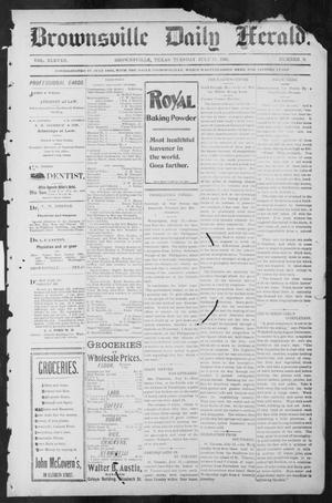 Primary view of object titled 'Brownsville Daily Herald (Brownsville, Tex.), Vol. ELEVEN, No. 9, Ed. 1, Tuesday, July 15, 1902'.