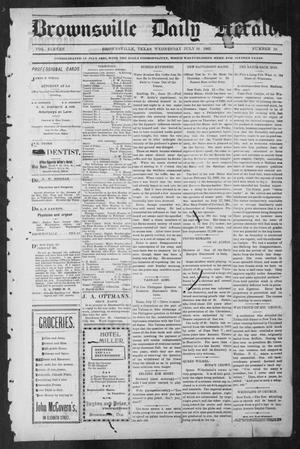 Primary view of object titled 'Brownsville Daily Herald (Brownsville, Tex.), Vol. ELEVEN, No. 10, Ed. 1, Wednesday, July 16, 1902'.