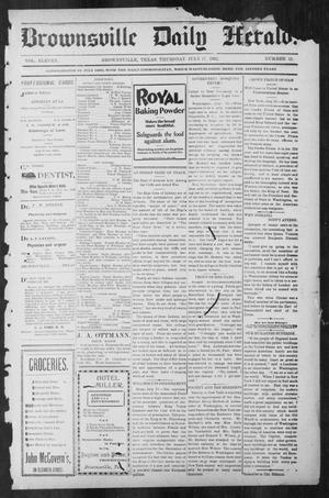 Primary view of object titled 'Brownsville Daily Herald (Brownsville, Tex.), Vol. ELEVEN, No. 11, Ed. 1, Thursday, July 17, 1902'.
