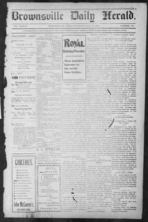 Primary view of object titled 'Brownsville Daily Herald (Brownsville, Tex.), Vol. ELEVEN, No. 125, Ed. 1, Tuesday, July 22, 1902'.