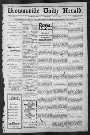 Primary view of object titled 'Brownsville Daily Herald (Brownsville, Tex.), Vol. ELEVEN, No. 126, Ed. 1, Wednesday, July 23, 1902'.