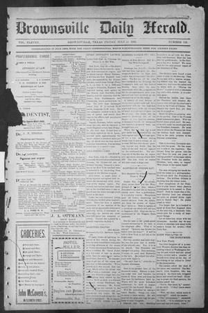 Brownsville Daily Herald (Brownsville, Tex.), Vol. ELEVEN, No. 128, Ed. 1, Friday, July 25, 1902