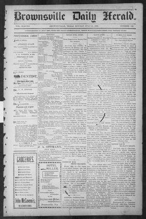 Primary view of object titled 'Brownsville Daily Herald (Brownsville, Tex.), Vol. ELEVEN, No. 130, Ed. 1, Monday, July 28, 1902'.
