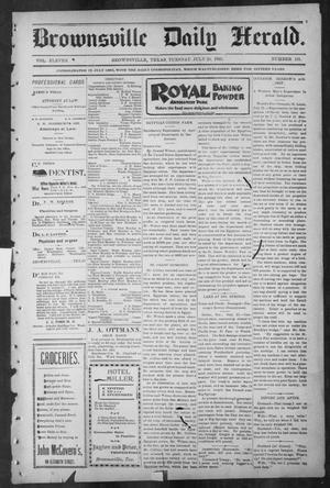 Primary view of object titled 'Brownsville Daily Herald (Brownsville, Tex.), Vol. ELEVEN, No. 131, Ed. 1, Tuesday, July 29, 1902'.