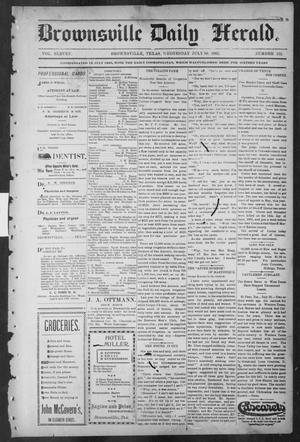 Primary view of object titled 'Brownsville Daily Herald (Brownsville, Tex.), Vol. ELEVEN, No. 132, Ed. 1, Wednesday, July 30, 1902'.