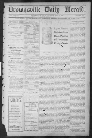 Primary view of object titled 'Brownsville Daily Herald (Brownsville, Tex.), Vol. ELEVEN, No. 133, Ed. 1, Thursday, July 31, 1902'.