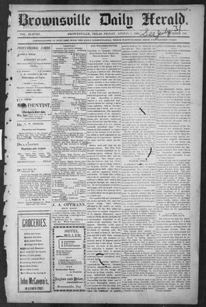 Primary view of object titled 'Brownsville Daily Herald (Brownsville, Tex.), Vol. ELEVEN, No. 134, Ed. 1, Friday, August 1, 1902'.