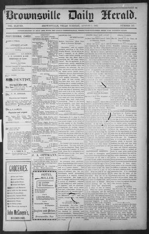 Brownsville Daily Herald (Brownsville, Tex.), Vol. ELEVEN, No. 137, Ed. 1, Tuesday, August 5, 1902