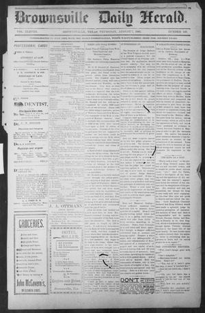 Primary view of object titled 'Brownsville Daily Herald (Brownsville, Tex.), Vol. ELEVEN, No. 139, Ed. 1, Thursday, August 7, 1902'.