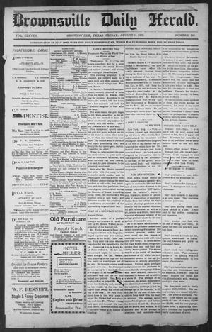 Primary view of object titled 'Brownsville Daily Herald (Brownsville, Tex.), Vol. ELEVEN, No. 140, Ed. 1, Friday, August 8, 1902'.