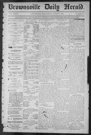 Primary view of object titled 'Brownsville Daily Herald (Brownsville, Tex.), Vol. ELEVEN, No. 142, Ed. 1, Monday, August 11, 1902'.