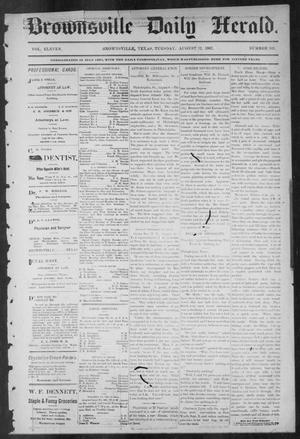 Primary view of object titled 'Brownsville Daily Herald (Brownsville, Tex.), Vol. ELEVEN, No. 143, Ed. 1, Tuesday, August 12, 1902'.
