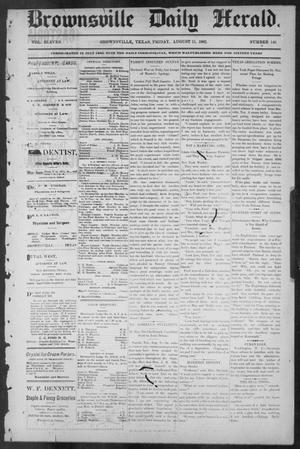 Primary view of object titled 'Brownsville Daily Herald (Brownsville, Tex.), Vol. ELEVEN, No. 146, Ed. 1, Friday, August 15, 1902'.